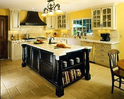 Yellow kitchen ideas home pinterest - Black and yellow kitchen ideas ...
