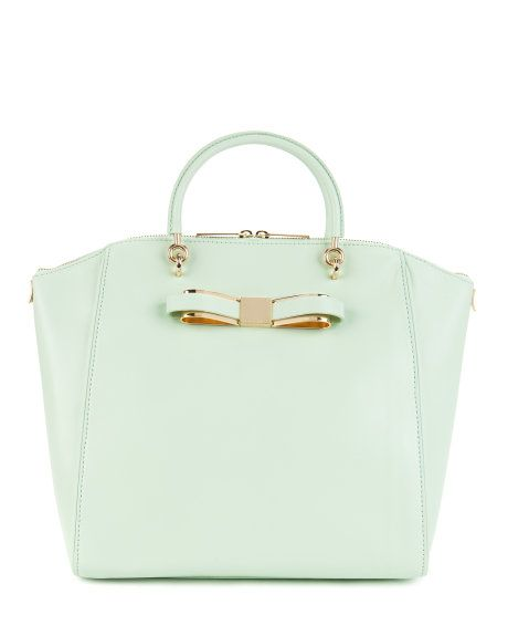 Large bow tote bag - Pale Green | Bags | Ted Baker SEU