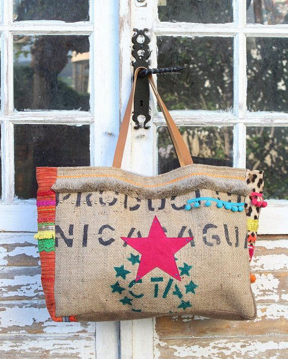 Bag Applied Star Bohemian Beach Canvas Pink CoffeeLeopardOrange CQdxBorWe