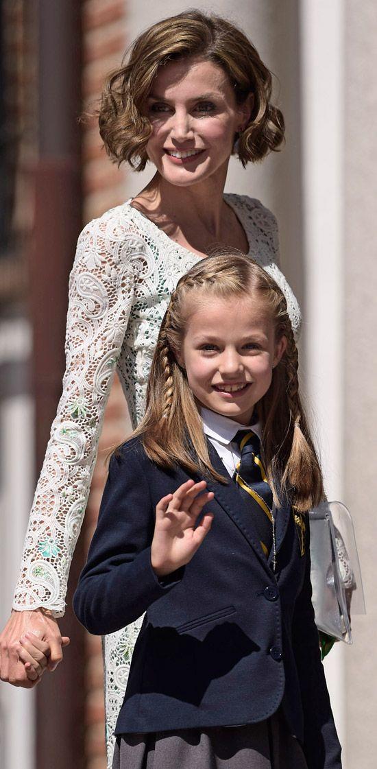 Queen letizia of Spain and her daughter infanta leonor of Asturias