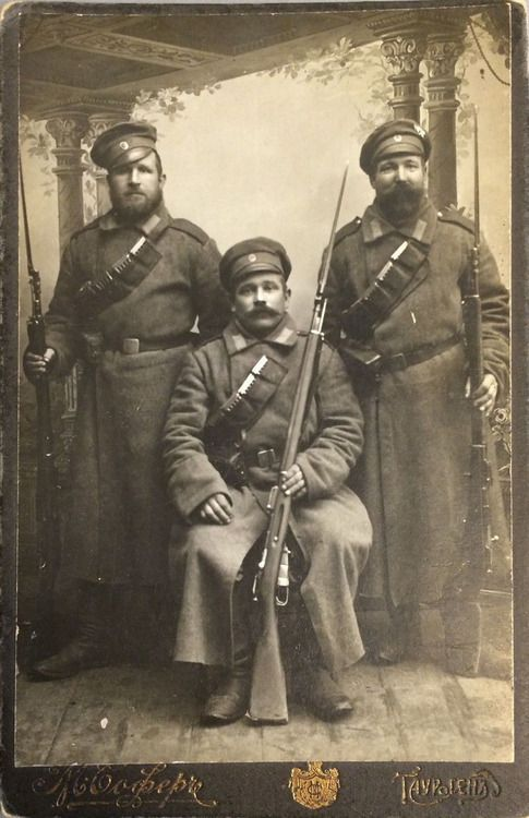 Russian Imperial Army soldiers, WWI: