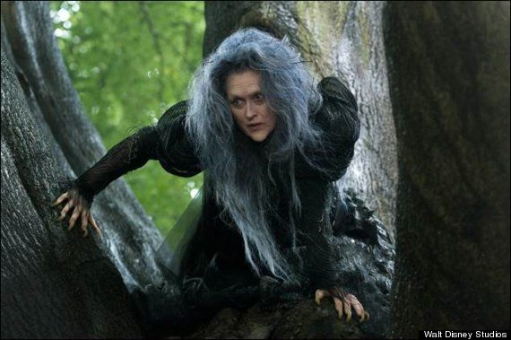 This is a first look at Meryl Streep in the movie Into the Woods, filming now.  Meryl makes a great witch.