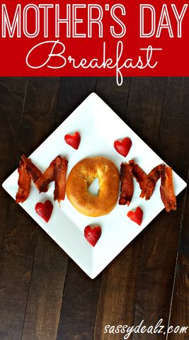Mother's Day breakfast idea for kids to help make for mommy! #breakfastinbed | CraftyMorning.com