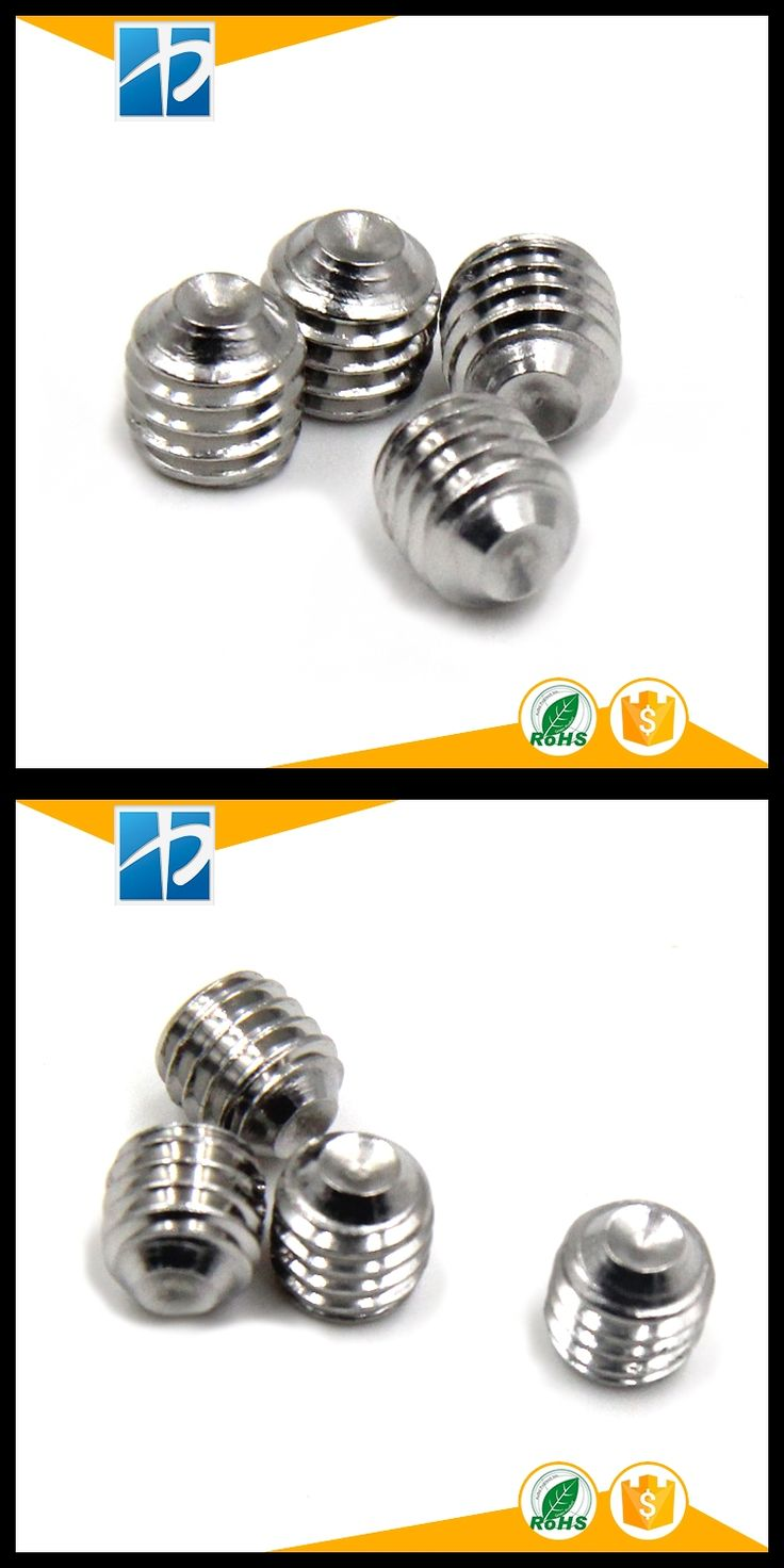 (100 pc/lot) M2,M2.5,M3 *L SUS304 DIN916 stainless steel hex socket cup point set  grub screw