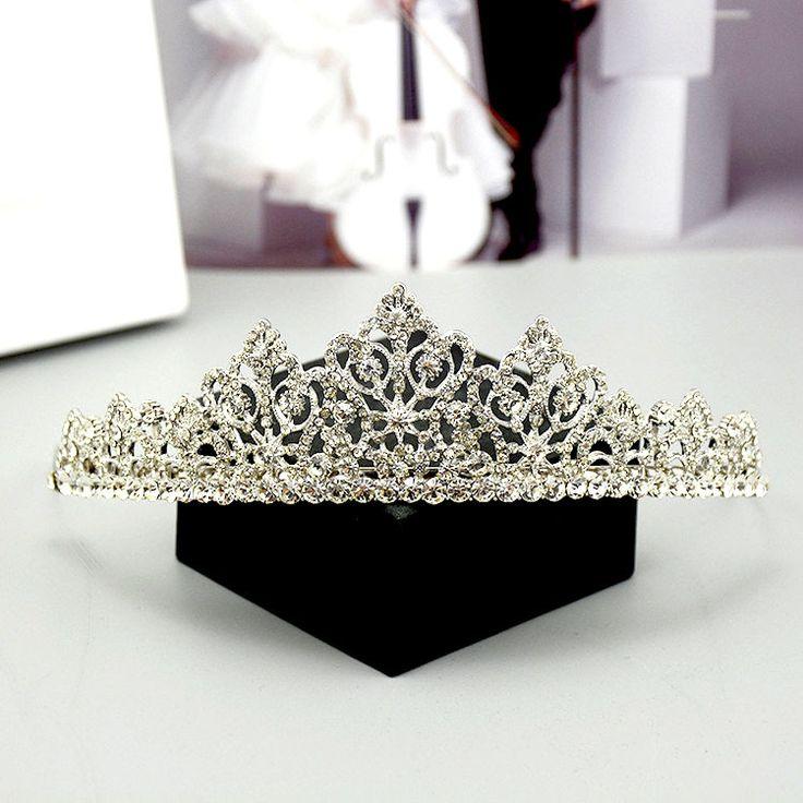 Coroa HG230 bela noiva tiara tiaras nupcial da mantilha acessórios do casamento liga strass jóia do vintage em Jóia do cabelo de Jóias & Acessórios no AliExpress.com | Alibaba Group