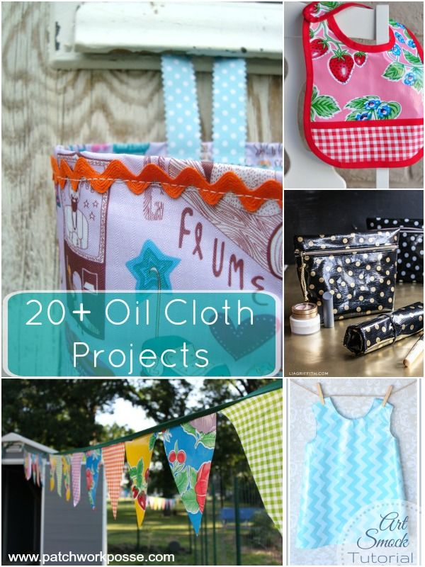 oil cloth projects and tutorials | patchwork posse #freepattern #oilcloth #sewing