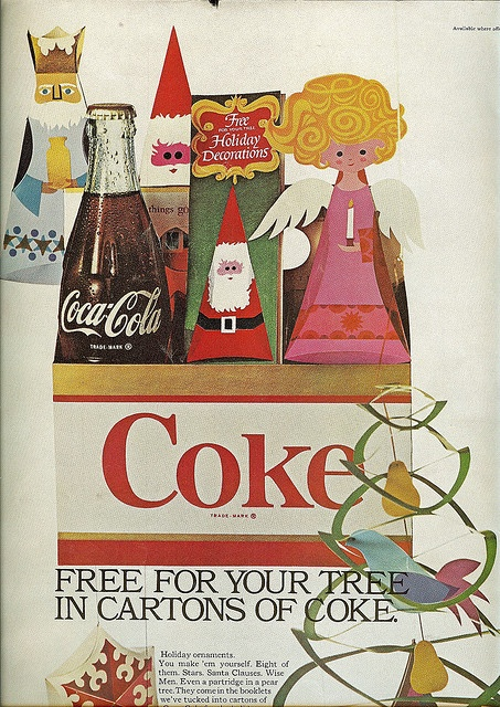 Coca Cola ad from American Home, December 1966