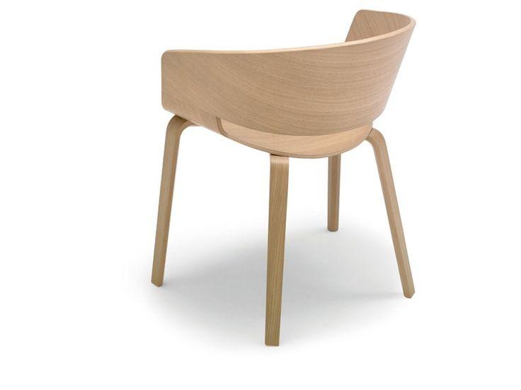 Chaise en bois RONDA by Andreu World design Lievore Altherr Molina chaise accoudoir