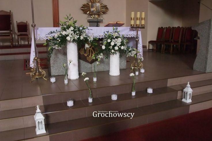 dekoracja kościoła Człuchów dekoracja ołtarza