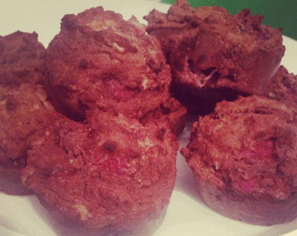 Strawberry & Chocolate Protein Muffins