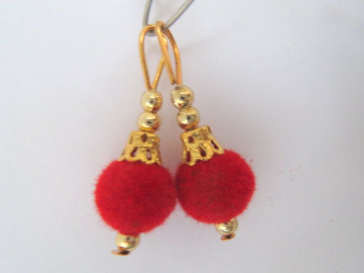 Red and Gold Handcrafted Velvet Tassel/latkan/Embellishment/Decoration/Saari/Curtain EthnicTraditional Tassels Supply 1 pair India by CraftyJaipur on Etsy