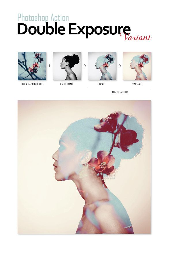 Photoshop Actions Pack - Double Exposure. Download here: http://graphicriver.net/item/photoshop-actions-pack-double-exposure/15301823?ref=ksioks