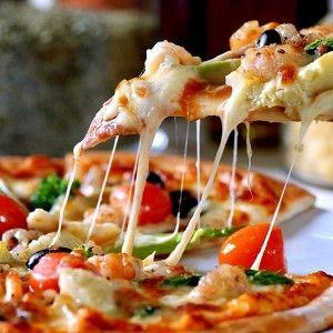 Пицца с креветками и шампиньонами