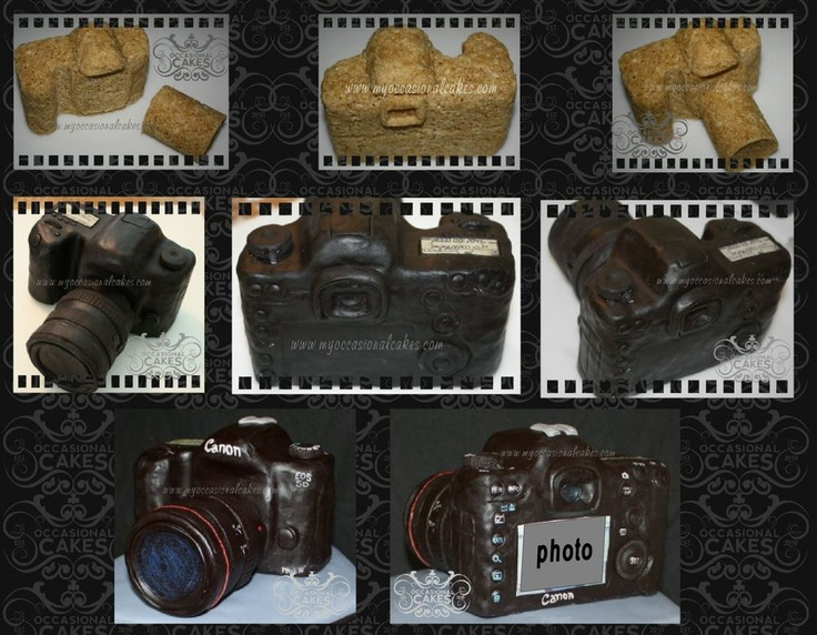 Canon Camera Cake Design : 17 Best images about camera cake tutorials on Pinterest ...