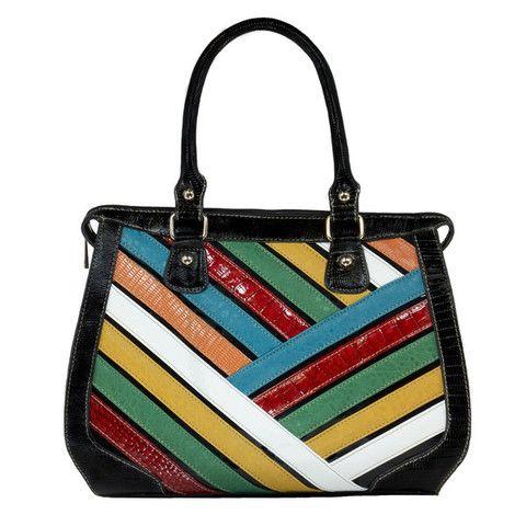 Rainbow Stripe Handbag   The Real Wool Shop