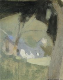 Artwork by Helene Schjerfbeck, The Old Brewery, Made of Painting: oil on cardboard, 1920