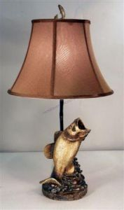 """Bass Electric Lamp 26"""" from Handcrafted Nautical Decor - In stock and ready to ship"""