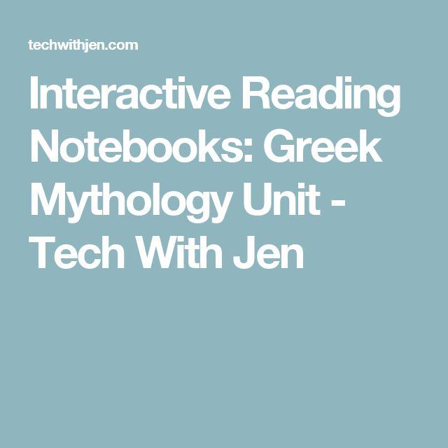 Interactive Reading Notebooks: Greek Mythology Unit - Tech With Jen