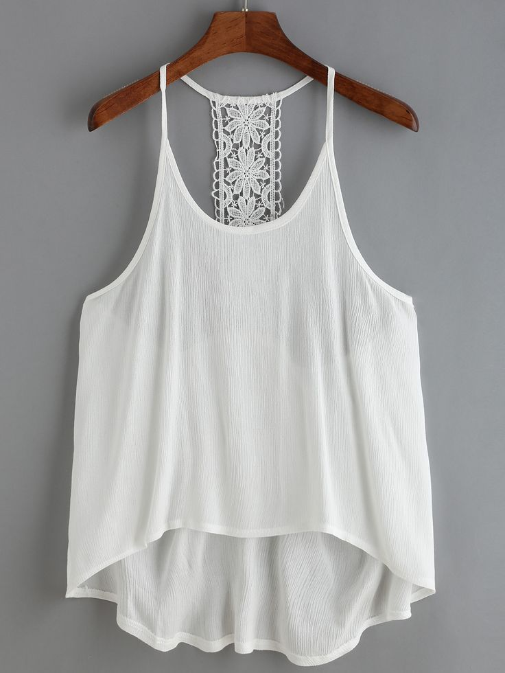 High Low Crochet Cami Top