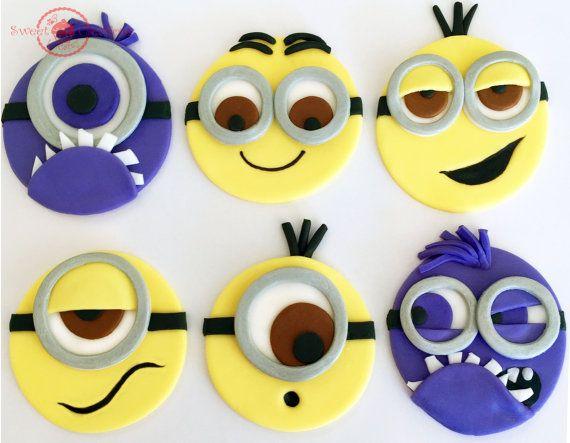 Secuaces de Fondant comestible inspirado Cupcake Toppers