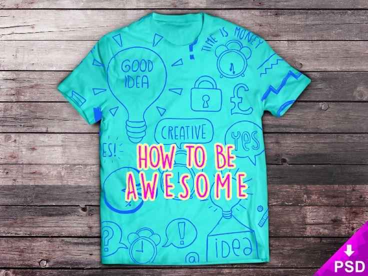 Aqua T-Shirt Mockup