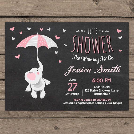 Elephant Baby Shower Invitation Little Peanut door Anietillustration