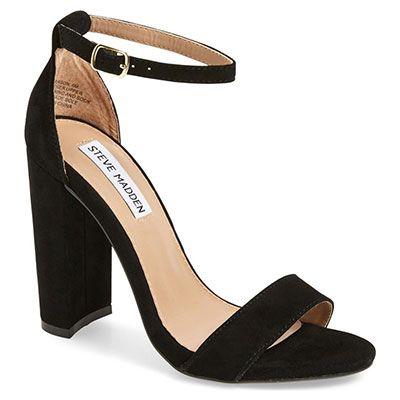 Steve Madden 'Carrson' Sandal, black suede sandals, black block heel sandals…