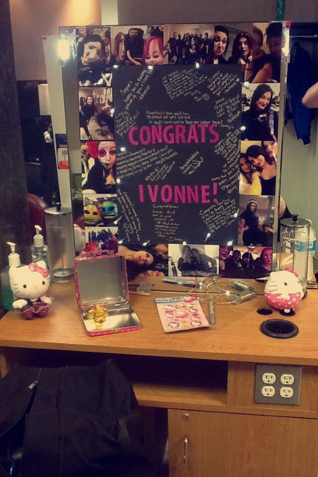 Cosmetology graduation poster board and station decoration