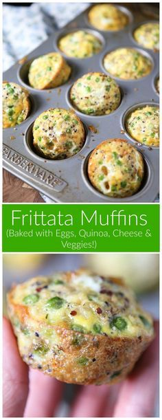 Frittata Muffins are great for healthy snacks or breakfast on the go - change up the veggie and cheese combo for variety!