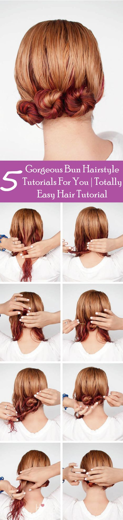 Best Bun Hairstyles Images On Pinterest Casual Hairstyles - High bun hairstyle tutorial
