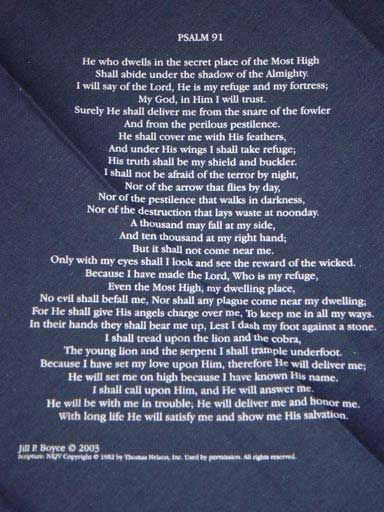 Psalm 91 Navy Blue Bandana