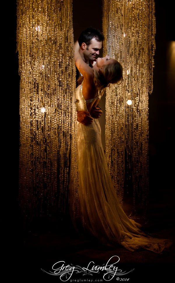 Wedding photos taken at night.  Night shoot by wedding photographer Greg Lumley.