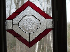 www.stainedglasscountryhouse.com  One of a Kind panel!! there is that beautiful Red!!!