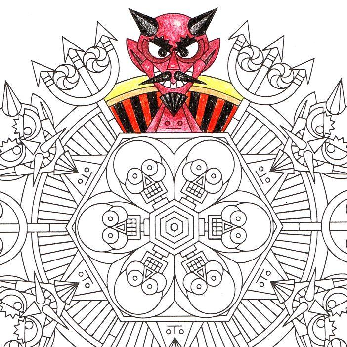 Satans Pawn Halloween Mandala