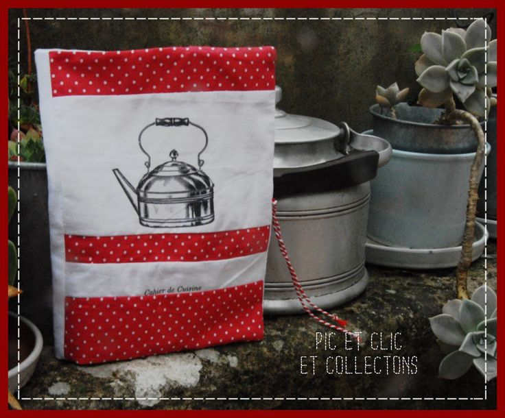 """protège-cahier de cuisine, cahier petit format, imprssion """"bouilloire"""" : Cuisine et service de table par pic-et-clic-et-collectons"""