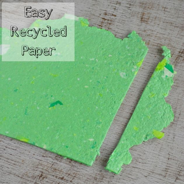 How To Make Recycled Paper Without A Mold Or Deckle