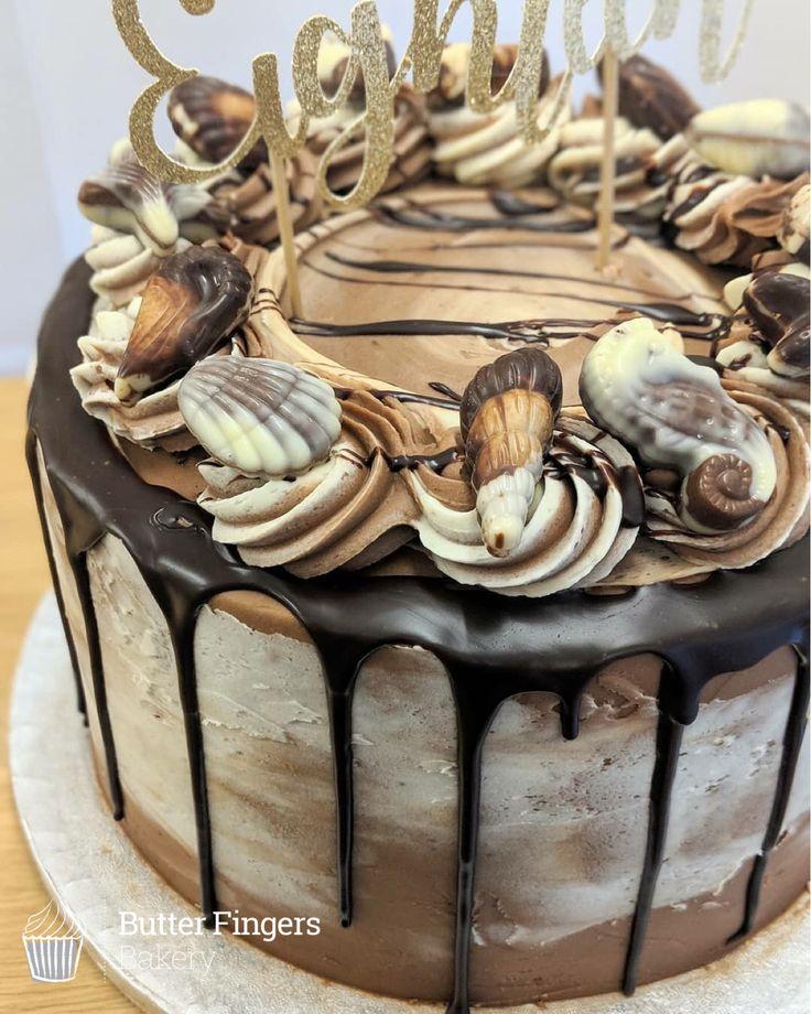 Chocolate And Praline 18th Birthday Cake With Guylian