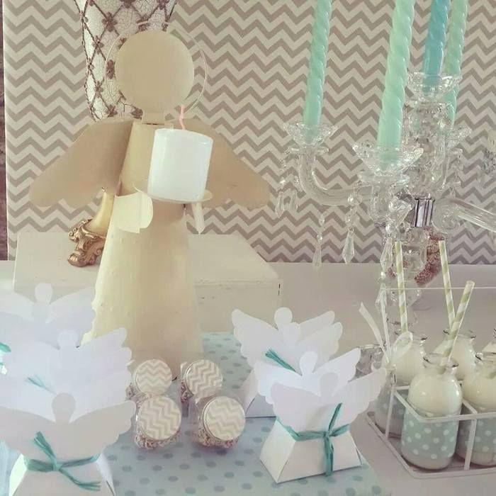 Modern Meets Vintage Baptism Dessert Table with Such Cute Ideas via Kara's Party Ideas   KarasPartyIdeas.com #babybaptism #baptism #baptismdesserttable #baptismpartyideas #partydecor #partyplanning #partyideas (4)
