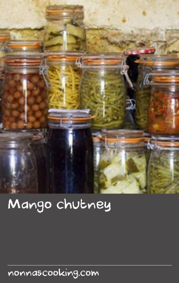 Mango chutney | Mango chutney is a tasty accompaniment to a range of dishes, including curries, burgers, grilled meats or sandwiches. This recipe uses onion, garlic and ginger for flavour.