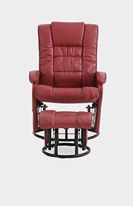 Comme il est agréable de s'assoupir un instant dans ce fauteuil inclinable en cuir laminé ! Ferme et étroit, il est tout indiqué pour une salle de séjour.