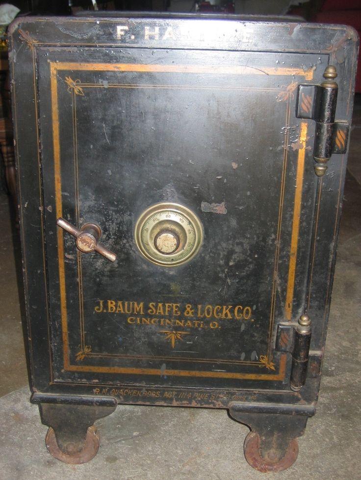 Vintage J. Baum Safe & Lock Co. Floor Safe Early 1900's