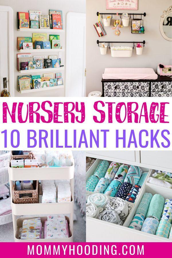 10 Clever Nursery Organization Ideas Mommyhooding Baby Room Storage Baby Room Organization Small Baby Room