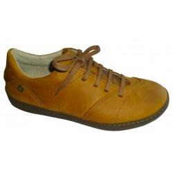 Chaussure El naturalista pour homme.  Cuir à tannage végétal, semelle en caoutchouc naturel. Fabrication au nord de l'Espagne.