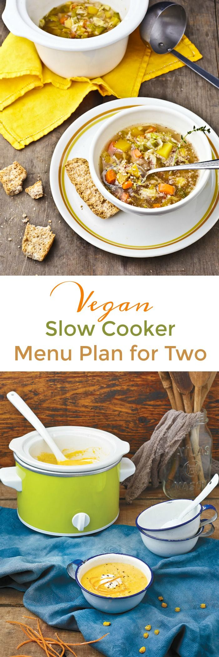 This week's menu plan at Healthy Slow Cooking uses a 1 1/2 or 2 quart slow cooker and is perfect for 1 or 2 people households. Includes 7 breakfasts, 7 main courses and a dessert!