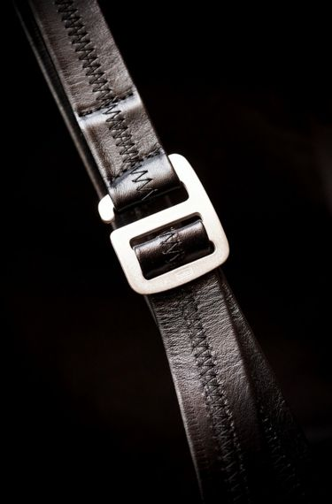 [ hobo ] COW LEATHER BELT WITH BRASS BUCKLE www.lancah.com