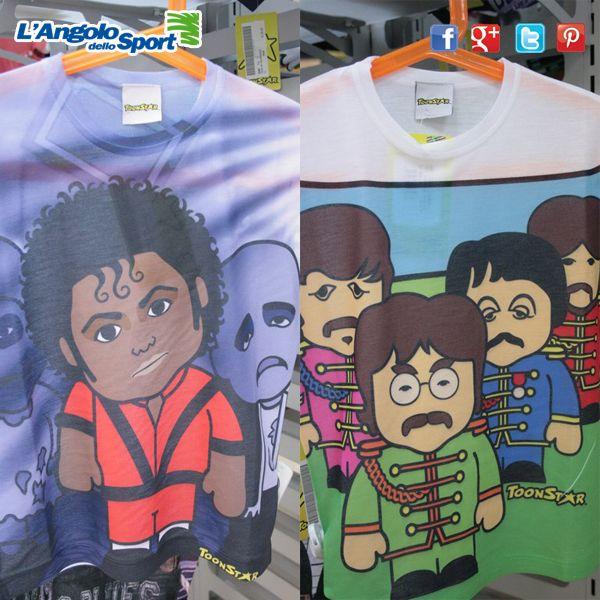 Ehi tu, se più Pop o più Rock? Le nuove T-shirt #ToonStar per bambini, uno spettacolo!