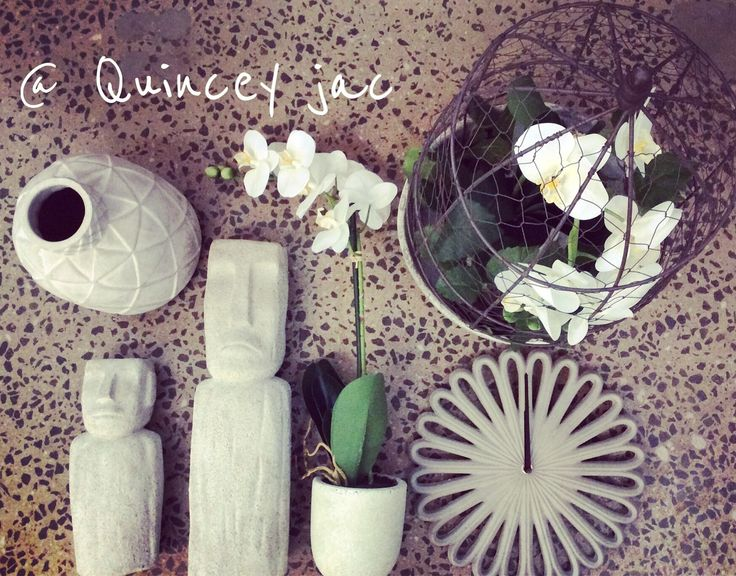 #rustic #concrete #clock #plants #statue #gifts #homedecor #quinceyjac