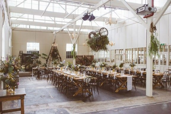 NOUBA Blog. Melbourne Rooftop Wedding. Reception style. Hanging foliage.