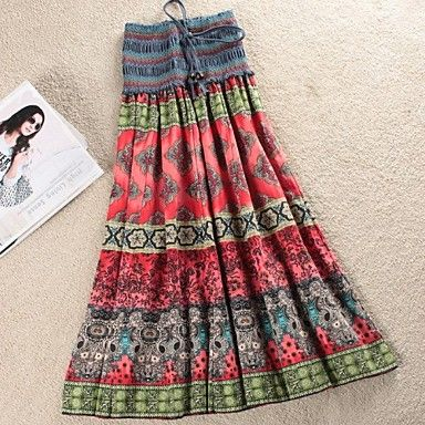 Women's New Hot Fashion Bohemia Ethnic Print Skirt – USD $ 7.99