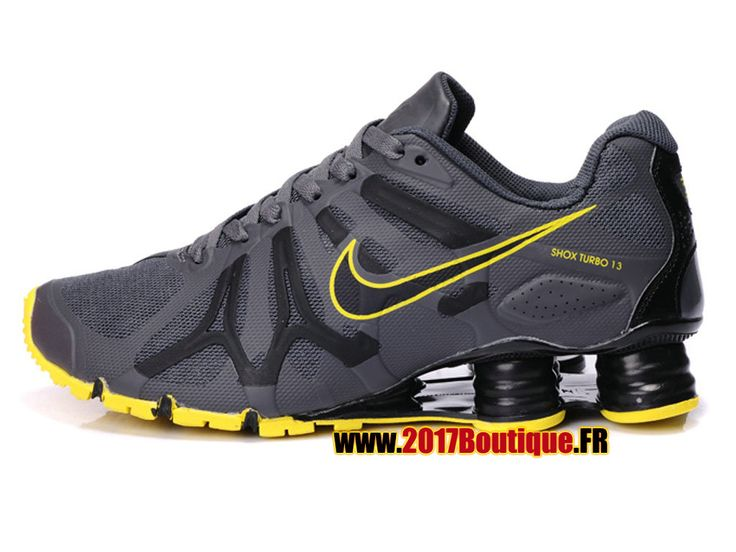 Nike Air Shox Turbo + 13 XIII Chaussures Nike Sportswear 2017 Pas Cher Pour Homme Gris